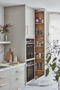 Home Design, Küchen Design, Open Plan Kitchen Living Room, New Kitchen, Family Kitchen, Kitchen Interior, Kitchen Decor, Country Look, Interior Desing