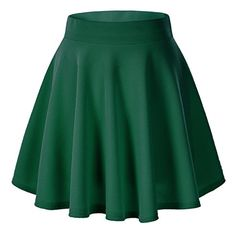 Shop a great selection of Moxeay Women's Basic A Line Pleated Circle Stretchy Flared Skater Skirt. Find new offer and Similar products for Moxeay Women's Basic A Line Pleated Circle Stretchy Flared Skater Skirt. Green Skater Skirt, Green Mini Skirt, Flared Mini Skirt, Skirt Pleated, Green Skirts, Floral Skirts, Cute Skirts, Mini Skirts, Skater Skirts
