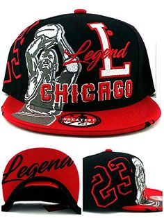 e8abce5a29a Chicago New Legend Greatest 23 MJ Jordan Bulls Colors Black Red Era Snapback  Hat Cap