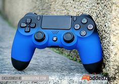 "Check out our new release Soft Touch ""Shadow Blue"" PS4 #custom #moddedcontroller. Also avaliable in Red and Orange! Customize your own today at www.moddedzone.com A lot more is coming up soon. Stay tuned!"