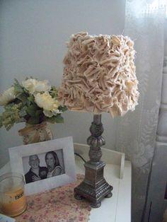 Romantic shabby chic muslin fabric lamp shade by BrooklynsBridal, $35.00