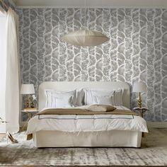 146 - Grace wallpaper - black - Sandberg Tyg & Tapet