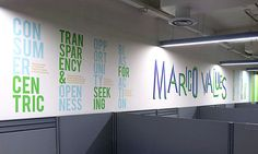 Marico Corporate office Space, Mumbai Space Design by Madhouse Design, via Behance - value typography wall