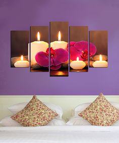 Take a look at this Candlelight Glow Five-Panel Wall Art Set today!