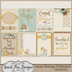 Autumn Blessings Pocketcards