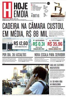 Capa do dia 04/10/2016 #HojeEmDia #Jornal #Notícias #News #Newspaper