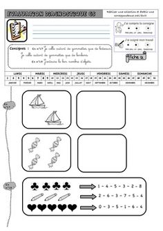 Evaluation Diagnostique GS Math Gs, Maternelle Grande Section, Petite Section, Activities For Kids, Bullet Journal, Education, Cycle 1, Montessori, Pirates