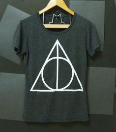 Deathly Hallows Harry Potter TSHIRT BLACK movie women teen size S,M,L  $19.80 #Socialbliss #onlinestore