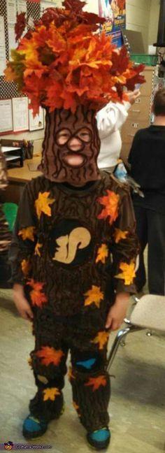 DIY Oak Tree Costume