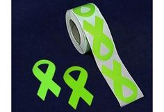 Large Lime Green Ribbon Stickers - 250 Count (ST-02-9)
