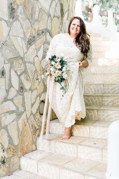 This floor-length lace: | 32 Incredible Wedding Dress Details You Have To See