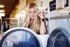 photo shoot in a laundry mat. genius. @Amber Fillerup