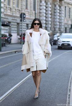 LEILA. so cool, so chic. Milan. #LeilaYavari #LeeOliveira