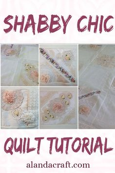 Learn how to make a shabby chic memory quilt using lace and doilies. I made this one using doilies that were made by my mother and mother in law. It makes a lovely memory quilt. Our tutorial shows you how. Quilting For Beginners, Quilting Tutorials, Quilting Projects, Quilting Designs, Sewing Tutorials, Shabby Chic Quilt Covers, Shabby Chic Quilts, Jellyroll Quilts, Easy Quilts