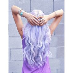 light purple hair Tumblr Favorite Color ❤ liked on Polyvore featuring beauty products, haircare, hair color, hair, pictures, cabelos, hairstyles and beauty