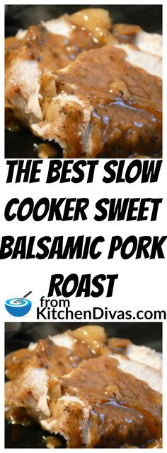 I have to admit I love gravy and/or sauce with my meals. I just cant help it. This gravy is awesome! This recipe for Slow Cooker Sweet Balsamic Pork Roast is definitely worth a try. Delicious with pork shoulder or pork loin, this recipe tastes great every time! #slowcooker #pork #dinner #recipe #balsamic