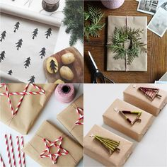 16 inspiring gift wrapping hacks on how to make instant gift bags and beautiful gift wraps in minutes, using re-purposed materials for almost free! - A Piece Of Rainbow Christmas Wrapping, Christmas Wreaths, Christmas Crafts, Snowflake Decorations, Outdoor Christmas Decorations, 3d Paper Snowflakes, Christmas Planters, Easy Diy Gifts, Mason Jar Crafts