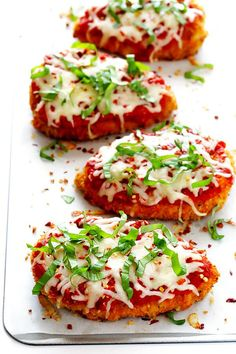 This Spicy Baked Chicken Parmesan recipe is made with a crispy seasoned panko crust, and topped with a zestymarinara sauce, melted mozzarella, and lots of fresh basil. It's surprisingly simple to make, and SO delicious. I am that rare girl who doesn't really like fried chicken. For better or worse, the credit for this probably …