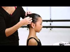 "A performance bun needs to be secure, sleek and clean. There should be no ""fly away"" or ""wispy"" hairs around the dancers face or from the bun. Ballet Hairstyles, Bun Hairstyles, Dance Team Hair, Ballerina Bun Tutorial, Whispy Hair, Dance Competition Hair, Little Girl Hairdos, Dance Dreams, Dance Recital"