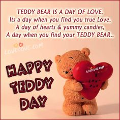 Valentine Day Week, Happy Valentine Day Quotes, Happy Birthday Quotes, Valentine Special, Happy Teddy Day Images, Happy Teddy Bear Day, Girlfriend Quotes, Boyfriend Quotes, Happy Chocolate Day