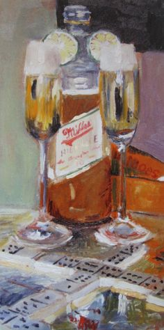 Beer Art Print of MILLER HIGH LIFE Champagne of Beers, $35.00