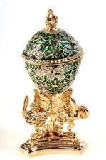 Faberge Egg Trinket Box by Keren Kopal - Swarovski Crystal Jewelry Box