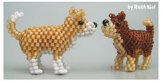 3D Beaded Dog Pattern | Bead-Patterns