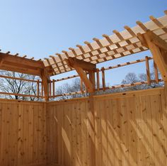pergola over fence or privacy wall
