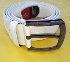 New Fashionable mens belts leatherette white belts