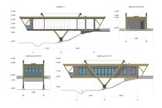The house is near a stream by Maxim Lyubetsky Architecture Design, Facade Design, Concept Architecture, Chinese Architecture, Architecture Office, Futuristic Architecture, Modern Small House Design, Tiny House Design, Beautiful House Plans