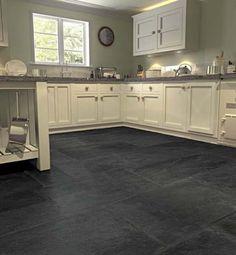 Black Kitchen Floor Tile
