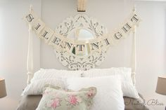 Christmas Tour - Master Bedroom 'Silent Night' Banner