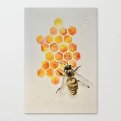 Buy Honey bee Canvas Print by ayadevin. Worldwide shipping available at Society6.com. Just one of millions of high quality products available.