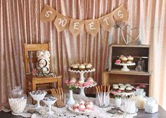 Vintage Wedding Dessert Table by Glorious Treats ~ we ❤ this! moncheribridals.com