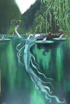 Marco Nizzoli (Italian, b. Reggio Emilia, Italy) - Naiad Comic Art (Metamorfosi), 2010 Paintings: Oil on Canvas