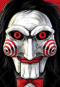 horror movie Jigsaw by Thuddleston Horror Movie Characters, Horror Movies, Horror Movie Tattoos, Fictional Characters, Jigsaw Movie, Jigsaw Saw, Scary Drawings, Horror Drawing, Image Film