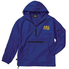 Alpha Phi Omega Pack-N-Go Pullover (light gold embroidery)