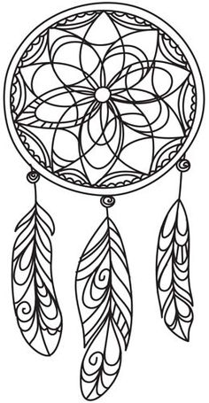 "Delicate Dreamcatcher design (UTH4898) from UrbanThreads.com 4.72""w x 9.41""h.   ...   ** this make a great quilling pattern. ~ Ruth **"