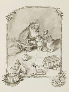 Tasha Tudor illustration of Night before Christmas! A family favorite!