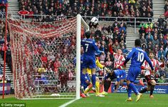 The Conor Wickham factor: The ball sneaks over the head of Cardiff's Peter Whittingham and under the cross bar to put Sunderland 1-0 up.