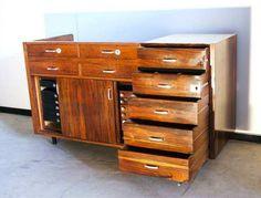 Vintage palissander Toonbank jaren 60 70 Retro ladenkast