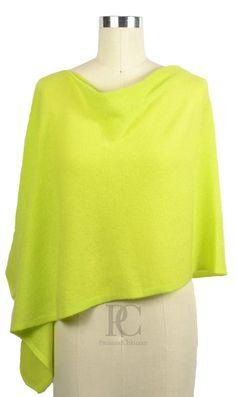100% Cashmere in Dayglow Green. Wear if 4 ways. PaulaandChlo.com