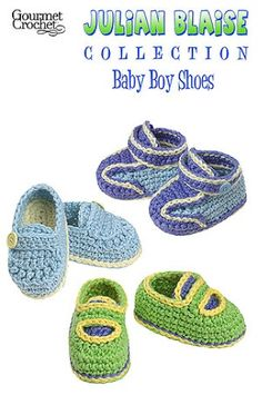 It always seems like the best baby crochet patterns are for girls. That all changes with the Julian Blaise Baby Boy Shoes pattern. These adorable baby shoes are sure to become favorite projects for shower gifts or your own baby boy. Your baby will have stylish shoes for the first year of life with sizes for newborn, 3 months, 6 months and 9 to 12 months. There are even instructions for converting the sizing to a preemie/doll size. Julian Blaise Baby Boy Shoes includes instructions for four