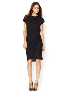 Crepe Boatneck Ruched Dress by See by Chloe at Gilt
