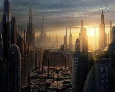 Coruscant, the giant city-planet that serves as capitol of the Star Wars universe.    David/HM