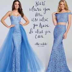 Those blushing blue hues can make you strive to be you...always show your #beYOUty with @officialelliewilde #lace #blues #prom #style #elliewilde #ipaprom