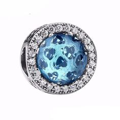 925 Sterling Silver Radiant Hearts, Moonlight Blue Crystal & Clear CZ Charms fit Pandora Charm Bracelets DIY Jewelry Making Jewelry Gifts, Jewelry Accessories, Diy Jewelry, Fashion Jewelry, Bead Jewelry, Fashion Fashion, Bracelets Diy, Charm Bracelets, Pandora Bracelets