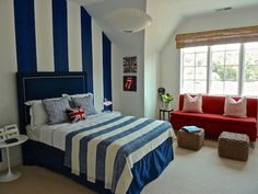 KIDS ROOM – What a creative approach to a child's bedroom. Kensett Norwood House boy's bedroom.
