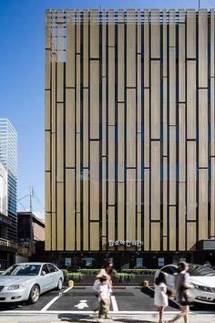kang copyright ⓒ 'Kim Yong Soon' all rights reserved Mall Facade, Retail Facade, Shop Facade, Building Exterior, Building Facade, Building Design, Parking Building, Facade Pattern, Building Skin