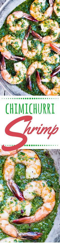 Chimichurri Shrimp can be a healthy, vividly flavored low carb and paleo friendly appetizer or a 30-minute family meal, depending on how you serve it ~ theviewfromgreatisland.com